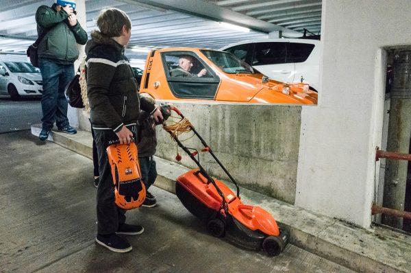 swansea car park orange Math Roberts fotogenik collective street photography