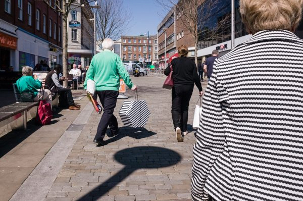 swansea stripey aqua Math Roberts fotogenik collective street photography